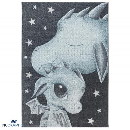 Παιδικό Χαλί Kids Collection Baby Dragon Blue Grey