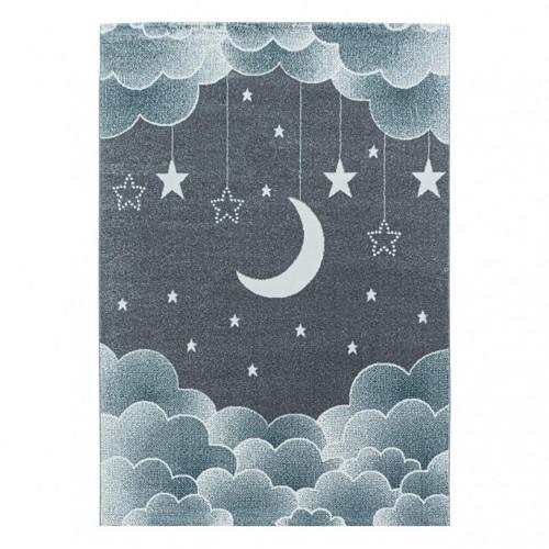 Παιδικό Χαλί Kids Collection Moon Star Blue