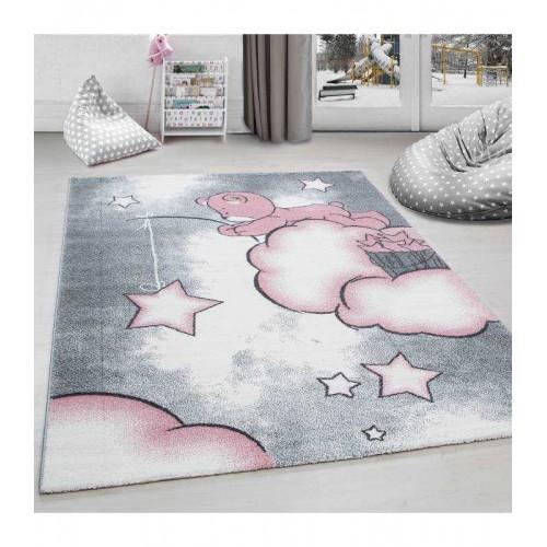 Παιδικό Χαλί Kids Collection Pink Bear Star